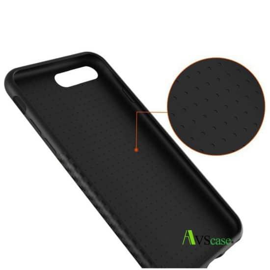 Coque Carbone - Noir Mat Haute Qualité - Pour iPhone 7/7Plus