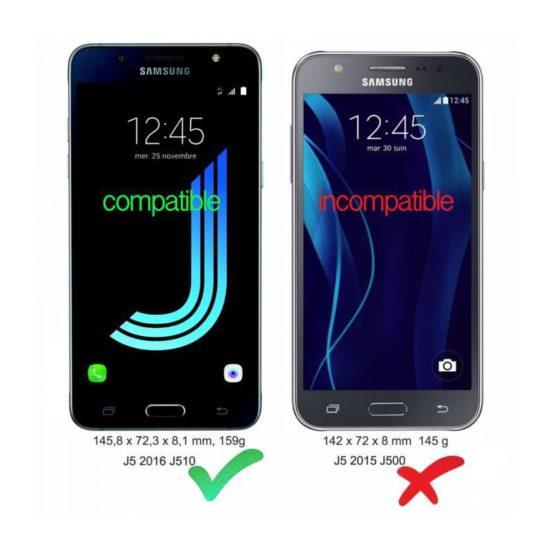 Pack Galaxy J5 2016 - Coque Silicone + Verre Trempé