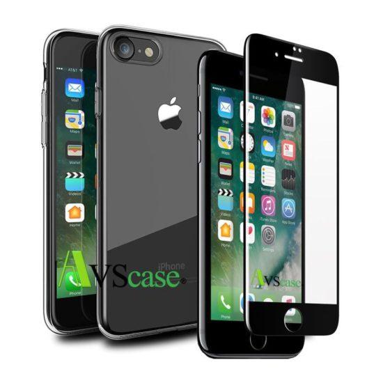 Pack 3D incurvé - Coque + Verre trempé - iPhone 7