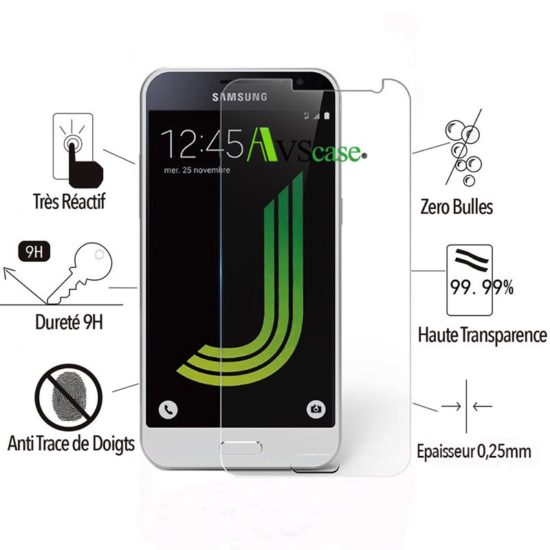 Pack Galaxy J3 2016 - Coque Antichocs + Verre Trempé