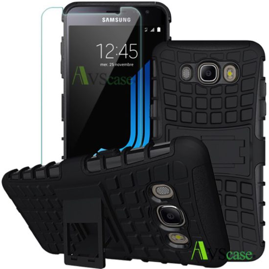 Pack Galaxy J5 2016 - Coque Antichocs + Verre Trempé