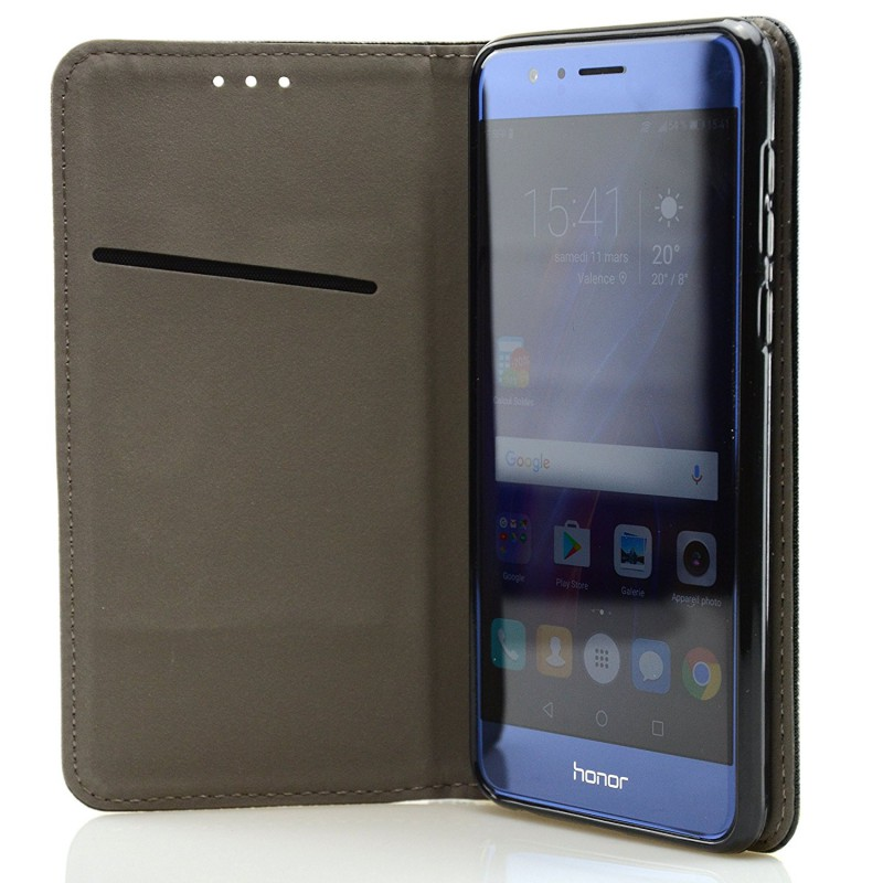Housse coque etui magn tique huawei honor 8 avscase for Housse honor 6x