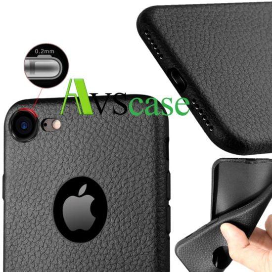 Coque Extra Slim Souple Noir Mat Pour iPhone