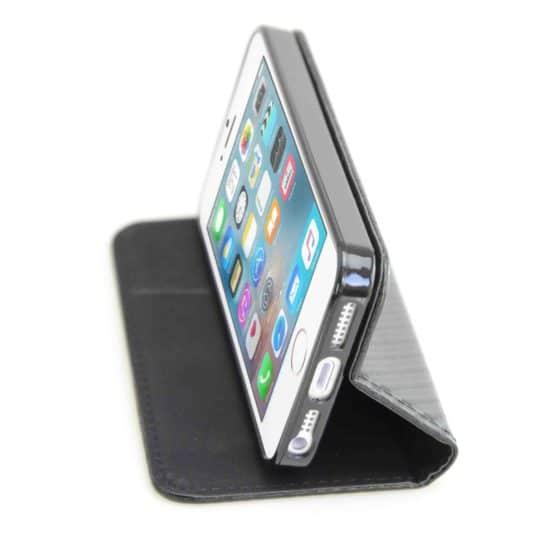Housse Coque Etui Magnétique Carbone - iPhone SE/5S - AVSCASE