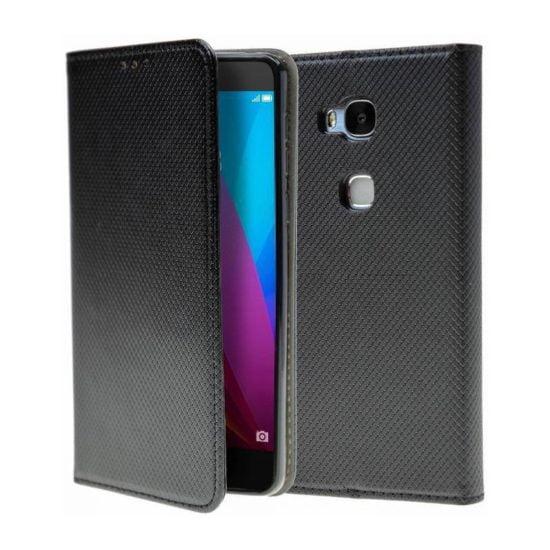 Housse Coque Etui Magnétique Huawei Honor 5X Noir