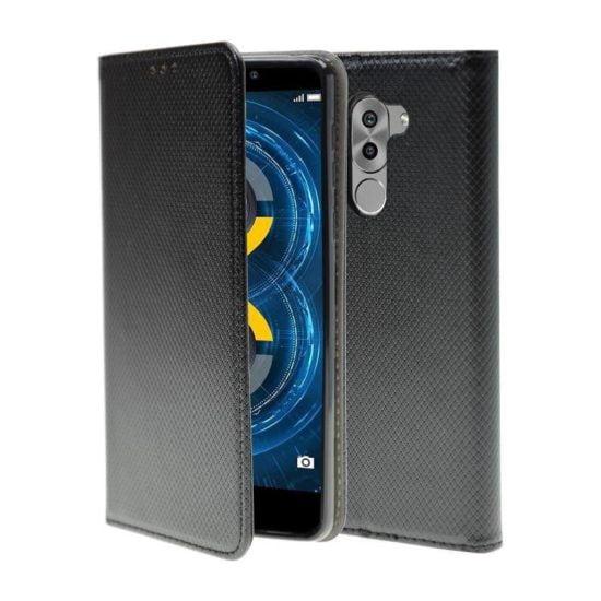 Housse Coque Etui Magnétique Huawei Honor 6X Noir