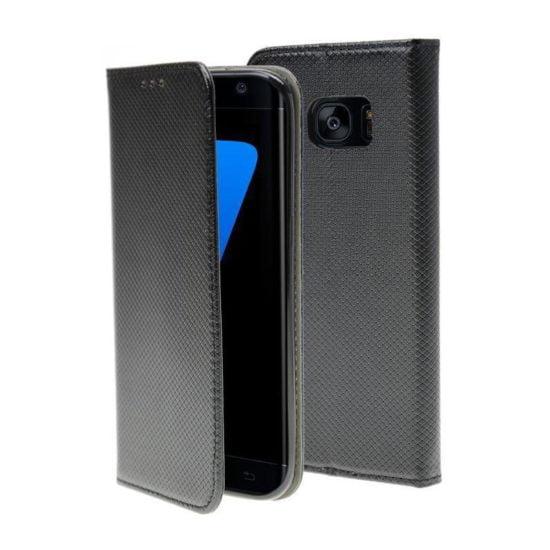 Housse Coque Etui Magnétique Galaxy S7 Edge Noir