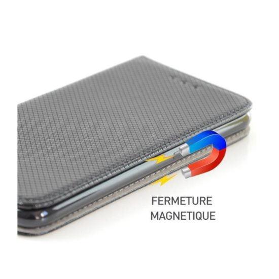 Housse Coque Etui Magnétique Galaxy A3 2017 Noir