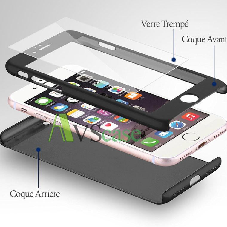 coque protection int grale 360 pour apple iphone 7 plus avscase. Black Bedroom Furniture Sets. Home Design Ideas
