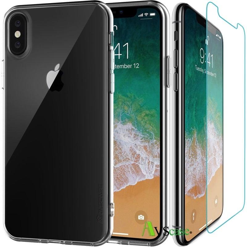coque iphone x verre trempé 3d